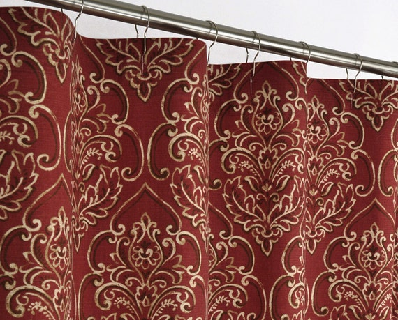 DAMASK Shower Curtain - SOUTHWEST - 72 wide x (72, 78, 84, 90, 96 long ...