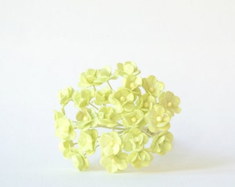 10  mm 20  Green  Mulberry Paper  Flower