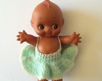 Vintage Brown Kewpie Doll in Dress