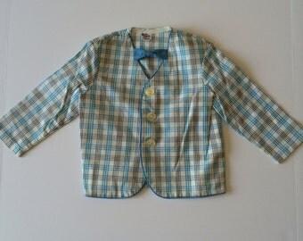 1970's Baby Blue Blazer & Bow Tie (2t/3t)