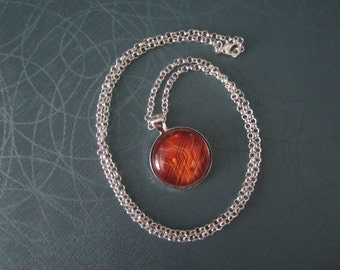 Orange Circuit  Necklace Netrunner