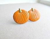 Sweet Pumpkin Stud Earrings
