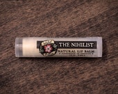 THE NIHILIST Natural Lip Balm Unscented Plain Unflavored  .15 oz - Gag Gift Stocking Stuffer