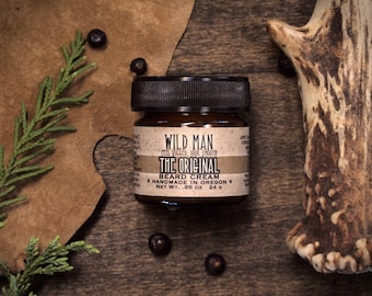 Beard Cream Balm - Wild Man - The Original - 24g // .85oz - Grooming Mens Gift