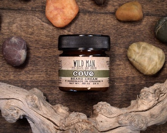 Wild Man Beard Cream - Cove - Beard Balm 24g // .85oz Grooming Gift For Him