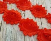 """SHIMMER RED Shabby Rose Trim 2.5"""" Shabby Flowers Shabby Chiffon Flowers Shiny Cloud Shabby Chic Trim Wholesale Rosette trim 6cm 1 yard"""