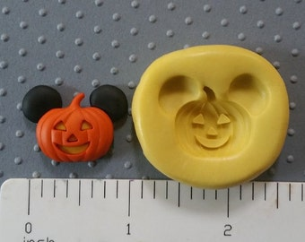 MICKEY MOUSE pumpkin mold mickey pumpkin silicone food safe for fondant gumpaste Polymcer clay air dry clay cold porcelain