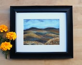 Whisky Highlands - Giclee Art Print Wool Painting Reproduction - 5x7 Print/8x10 Mat - SALE 50% off