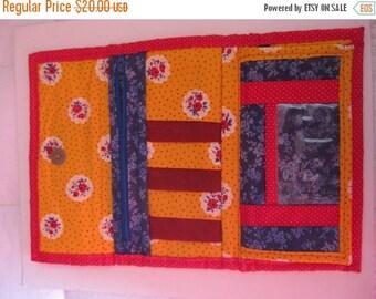 on sale Handmade Vintage Wallet, Floral Wallet, Vintage Handmade, Calico Wallet, Grandma Wallet, Large Handmade Wallet, Handmade Pocketbook,