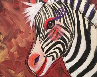 Zebra painting art