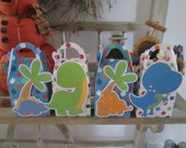 Dinosaur Gable Favor Boxes Set of 12