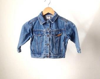 vintage BOYS levis BIKER jean jacket childern's coat 4T four year old coat