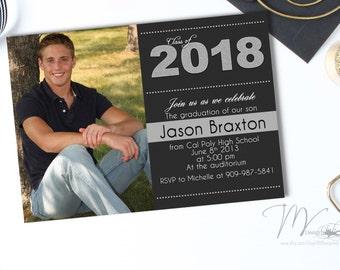 Graduation Party Invitation - Graduation Invitation - Senior Graduation Announcement - High School Graduation - Graduation Announcement