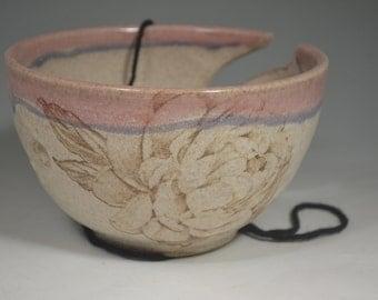 Yarn bowl, yarn, pottery yarn bowl, yarn storage