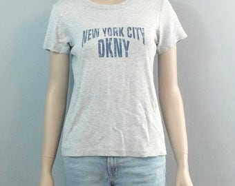 Vintage 90s DKNY New York Gray Tee