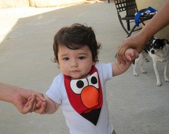 Bandana Bib - Baby Toddler Boy Girl Bandana Bib - Elmo - Sesame Street - Drool Bib
