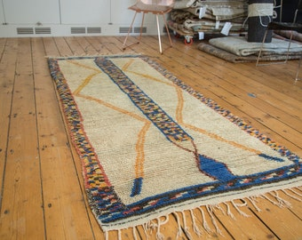 DISCOUNTED 3.5x8 Vintage Moroccan Rug Runner