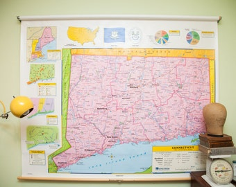 Markable Connecticut Pulldown Classroom Map