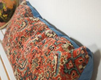 Antique Bijar Extra Large Lumbar Pillow