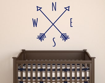 Arrow Compass Wall Decal