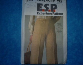 Simplicity ESP Misses Pull On Pants Size 16-18-20.