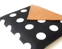 Leather Wacom Tablet Case, Polkadot Intuos Graphic Tablet Cover, Unisex Wacom Intuos Tablet Sleeve, Brown Wacom Bamboo Cover