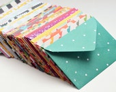 Assorted Mini Cards, Blank Cards, Gift Card Envelopes, Enclosure Cards, Love Notes, Advice Cards, Patterned Envelopes, Party Favor, Gift Tag