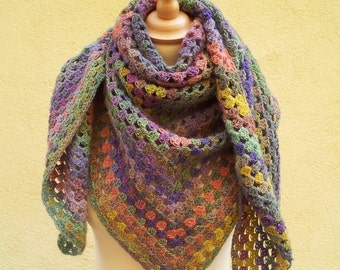 Multicolored shawl