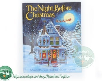 Vintage 1980s Night Before Christmas Book Hardcover