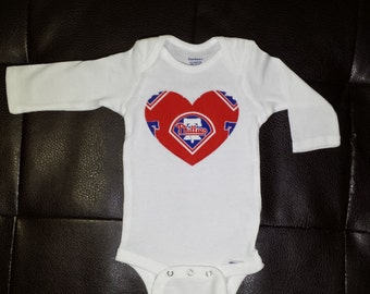 Phillies Heart Onesie