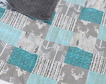 Arrow Woodlands Baby Blanket, Patchwork Blanket, Arrow Baby Blanket