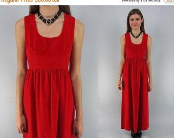 On Sale - Vintage 60s Velvet Maxi Dress, Party Dress, Evening Dress, 60s Empire-Waist Dress Δ size: xs / sm