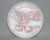 Spode Blue Room Christmas plate no 1 in the red/ pink color , has the number 53439-U