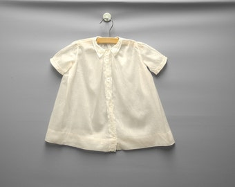 Vintage Baby Clothes, 1920's Blush Pink Cotton Lace Baby Girl Dress, Vintage Baby Dress, Pink Baby Dress, Lace Baby Dress, Size 12 Months