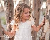 Girls dress, lace flower girl dress, girls dress, girls lace dress, Christmas dress, ivory lace dress, rustic flower girl dress, birthday