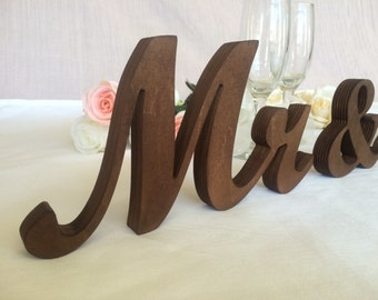 Wooden set wedding signs Mr and Mrs. Wedding set wood signs. Wedding set wedding signs, photo prop wedding, wooden letters. Dark wood finish