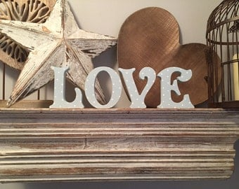 Painted Wooden Letters - Wedding, Standing- LOVE - Victorian, 12cm, various colours and finishes