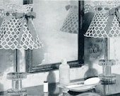 1940's Lacy Lampshade Cover Crochet Pattern Instant Download PDF