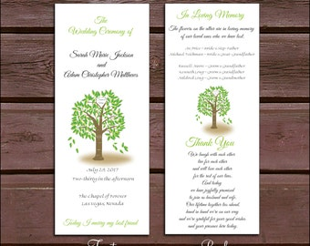 100 Tree Rustic Wedding Ceremony Programs