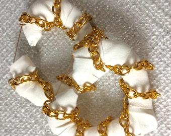 Heart Earrings, Bamboo Earrings, Hoop Earrings, Statement Earrings, White, Vegan Leather, Gold Earrings, Graffitti Art, Sale