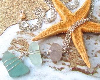 Sea Dreams Sea Glass Necklace