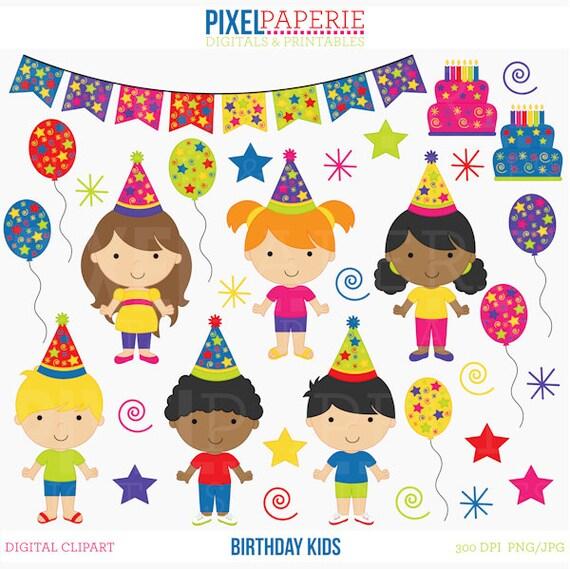 birthday clipart clip art kids children birthday kids Birthday Clip Art Black and White Happy Birthday