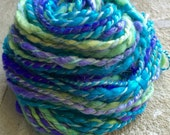 Hand spun Art Yarn - Alpaca Fiber - Chunky - Bulky