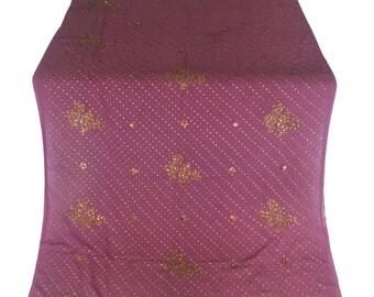 Used Sari, Dress Making, Fabric, Sarong, Drape, Embroidered Sari in purple