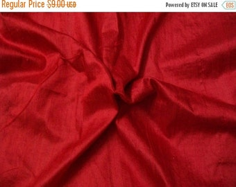 15% off Half yard 100 percent pure red dupioni silk