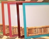 Framed Repurposed Wine Cork Corkboard and Dry Erase Board