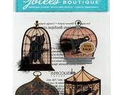 Sale -- BIRDS IN CAGES Halloween Stickers by Jolee's Boutique