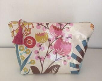 Tassel  Laminate Zipper bag, Cosmetic Bag, LouLouthi