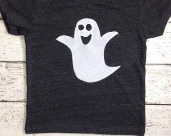 Halloween shirt ghost tee Shirt Organic Shirt Blend Halloween cut Halloween tee for boy or girl infant toddler youth short or long sleeve