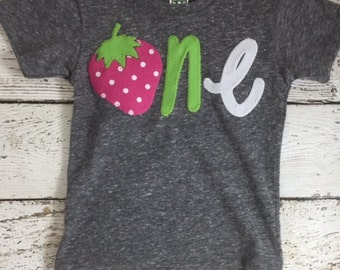 Strawberry shirt, strawberry party, Girls Birthday Shirt, strawberry birthday decorations, birthday outfit, first birthday shirt, kid's tee